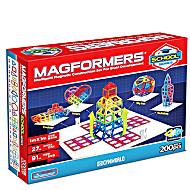 Магнитный конструктор Магформерс Школа 200 деталей артикул 630902 + короб для хранения