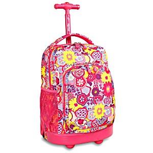 Школьный рюкзак на колесах JWORLD SUNNY Маки