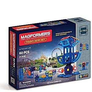 Магнитный конструктор Magformers Power Gear Set 60 деталей артикул 63114 + тетради